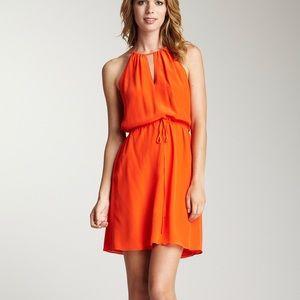 Rebecca Taylor Bright Orange Keyhole Cami Dress 2